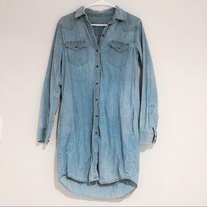 Gap | chambray shirt dress